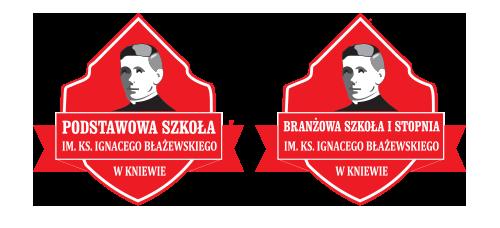 Szkoła Podstawowa oraz Branżowa Szkoła I stopnia Towarzystwa Salezjańskiego im. ks. Ignacego Błażewskiego w Kniewie Logo